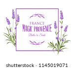 spring invitation card with... | Shutterstock .eps vector #1145019071
