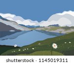 mountains panorama landscape.... | Shutterstock .eps vector #1145019311