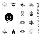 joy icon. collection of 13 joy... | Shutterstock .eps vector #1145019467