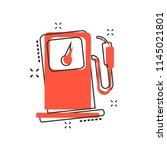 vector cartoon fuel gas station ... | Shutterstock .eps vector #1145021801