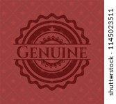 genuine red emblem. vintage. | Shutterstock .eps vector #1145023511
