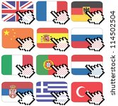 flag button with hand cursor... | Shutterstock .eps vector #114502504