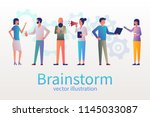 brainstorm concept  business... | Shutterstock .eps vector #1145033087