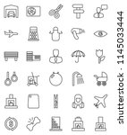 thin line vector icon set  ... | Shutterstock .eps vector #1145033444