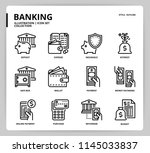 banking icon set | Shutterstock .eps vector #1145033837