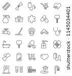 thin line vector icon set  ...   Shutterstock .eps vector #1145034401