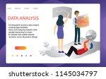 3d infographic business data... | Shutterstock .eps vector #1145034797