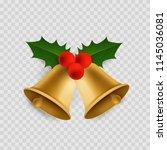 christmas bell. traditional...   Shutterstock .eps vector #1145036081