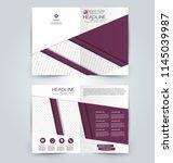 abstract flyer design...   Shutterstock .eps vector #1145039987