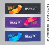 vector abstract design banner... | Shutterstock .eps vector #1145041751
