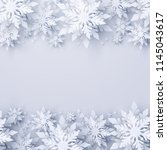 vector christmas and new year... | Shutterstock .eps vector #1145043617