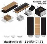 rigid magnet box template 3d... | Shutterstock .eps vector #1145047481