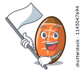 with flag rugby ball mascot... | Shutterstock .eps vector #1145047694
