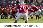 american football game with out ... | Shutterstock . vector #114504847
