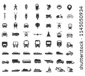 transport icons collection | Shutterstock .eps vector #1145050934