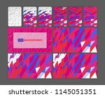 bright polygonal backgrounds.... | Shutterstock .eps vector #1145051351