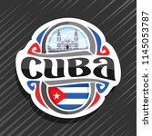 vector logo for cuba country ... | Shutterstock .eps vector #1145053787