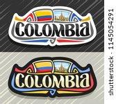 vector logo for colombia... | Shutterstock .eps vector #1145054291