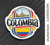 vector logo for colombia... | Shutterstock .eps vector #1145054294