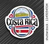 vector logo for costa rica... | Shutterstock .eps vector #1145054534