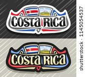 vector logo for costa rica... | Shutterstock .eps vector #1145054537