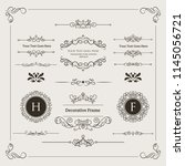 set of decorative divider ... | Shutterstock .eps vector #1145056721