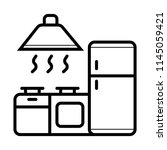 icon of kitchen. vector   Shutterstock .eps vector #1145059421