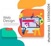 web design illustration landing ...