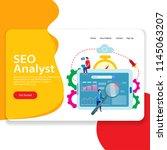 seo analyst web landing page...