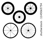 bicycle wheel vector icons | Shutterstock .eps vector #1145065754