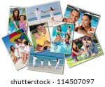 montage happy family of mother  ... | Shutterstock . vector #114507097