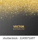 sparkling glitter border  frame.... | Shutterstock .eps vector #1145071697