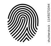 human fingerprint   finger... | Shutterstock .eps vector #1145073344