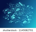 business background is doodles... | Shutterstock .eps vector #1145082701