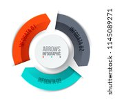 cycle business arrows elements. ... | Shutterstock .eps vector #1145089271