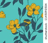 Elegance pattern with flowers and leaf.Floral vector illustration.