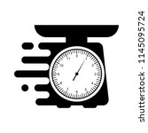 domestic weigh scales icon.... | Shutterstock .eps vector #1145095724