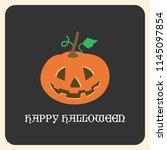 happy halloween greeting card... | Shutterstock .eps vector #1145097854