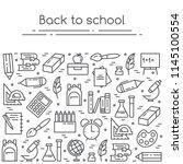 back to school vector... | Shutterstock .eps vector #1145100554
