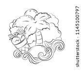 doodle hand drawn vector... | Shutterstock .eps vector #1145100797