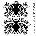 heraldic emblems with shield ... | Shutterstock .eps vector #1145103041
