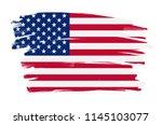 grunge flag of united states... | Shutterstock .eps vector #1145103077