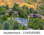 salt lake homes on hill near... | Shutterstock . vector #1145105381