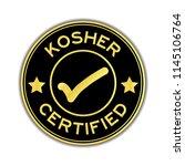 black and gold color kosher... | Shutterstock .eps vector #1145106764