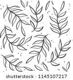 black and white vector pattern. | Shutterstock .eps vector #1145107217