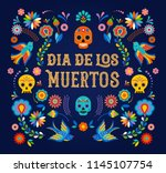day of the dead  dia de los... | Shutterstock .eps vector #1145107754