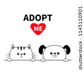 adopt me dog cat face head.... | Shutterstock .eps vector #1145110901