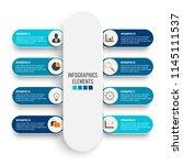 vector infographic template... | Shutterstock .eps vector #1145111537
