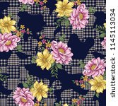 eclectic fabric plaid seamless... | Shutterstock .eps vector #1145113034