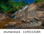 forest and waterfall at ton nga ... | Shutterstock . vector #1145113184